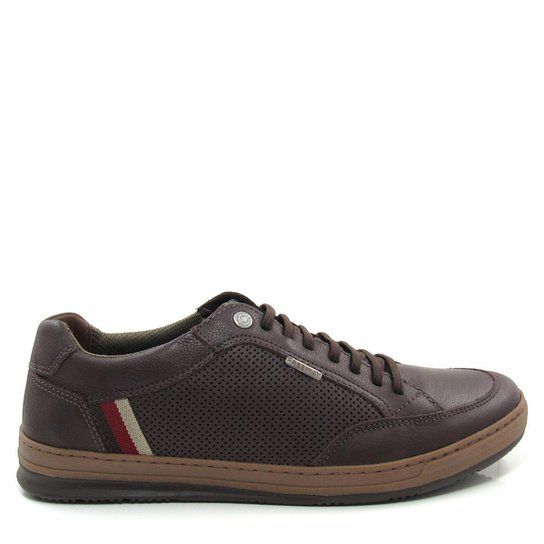 Sapatênis Couro Freeway Willy Masculino - Marrom - Compre Agora ... 176be342463