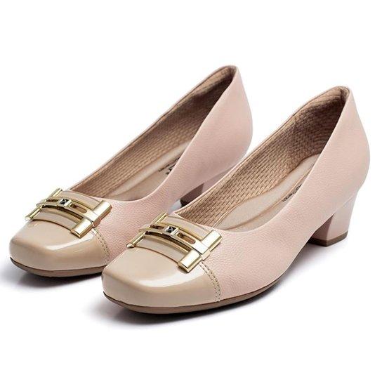 60b527fb20 Sapato Piccadilly Confort Bico Quadrado - Marrom - Compre Agora ...