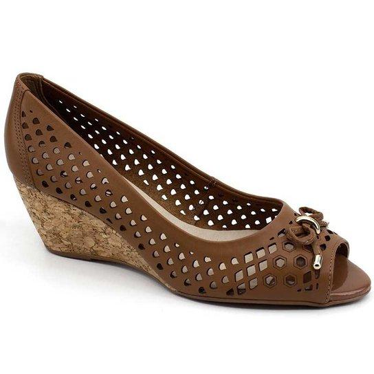 40205aae3c Sapato Peep Toe Bottero 278803 Couro - Compre Agora