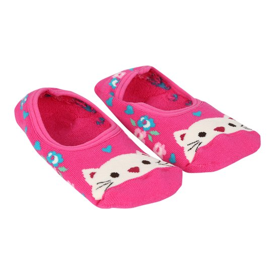 ffa79a776 Meia Infantil Lupo Sapatilha Antiderrapante Estampada Feminina - Pink