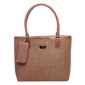 087ca60e5d4b1 Bolsa Victor Valencia Quadrada Textura Feminina