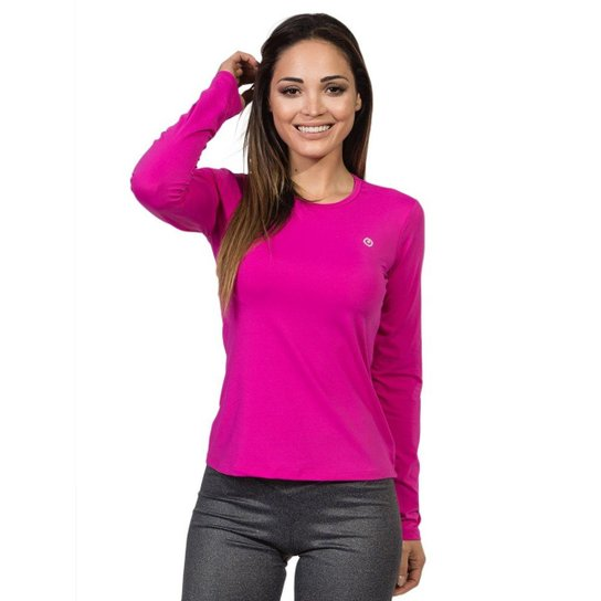 Camiseta com Proteção Solar Manga Longa Extreme UV Ice - Pink ... b647ca7896b10