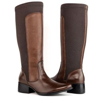 bd1b8dfc1a Bota Montaria Art Shoes Cano Alto Feminina