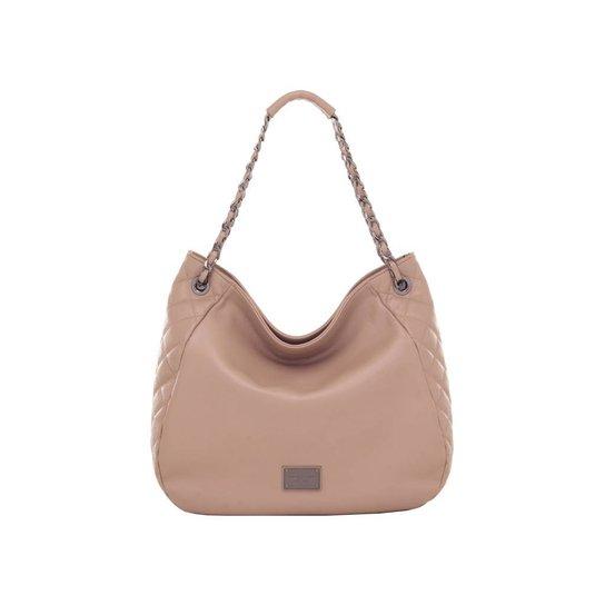 32426bec4 Bolsa Smart Bag Couro Tiracolo Matelassê Taupe - Compre Agora | Zattini