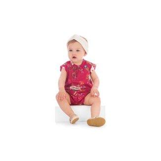 fa9012063a Macaquinho Bebê Up Baby Com Estampa Floral Feminino