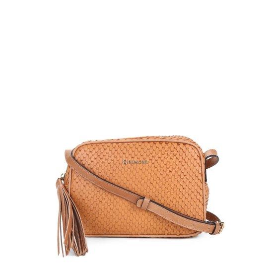 688bdaac9 Bolsa Couro Capodarte Mini Bag Alça Transversal Texturizada Feminina -  Marrom