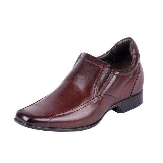 0e0c8d7f8 Sapato Social Rafarillo Social Alth Elevação 7 Cm Mogno Masculino - Marrom