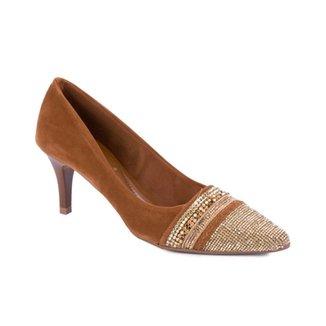 be095192db Sapato Di Cristalli o Fino CStrass Em Dourado Linhaca