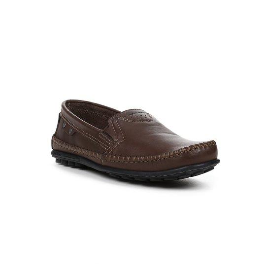 1abbb71c5 Sapato Mocassim Masculino Pegada - Marrom - Compre Agora