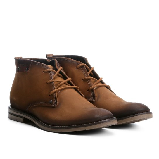 95e83b1c3 Sapato Casual Couro Pegada Masculino - Marrom - Compre Agora