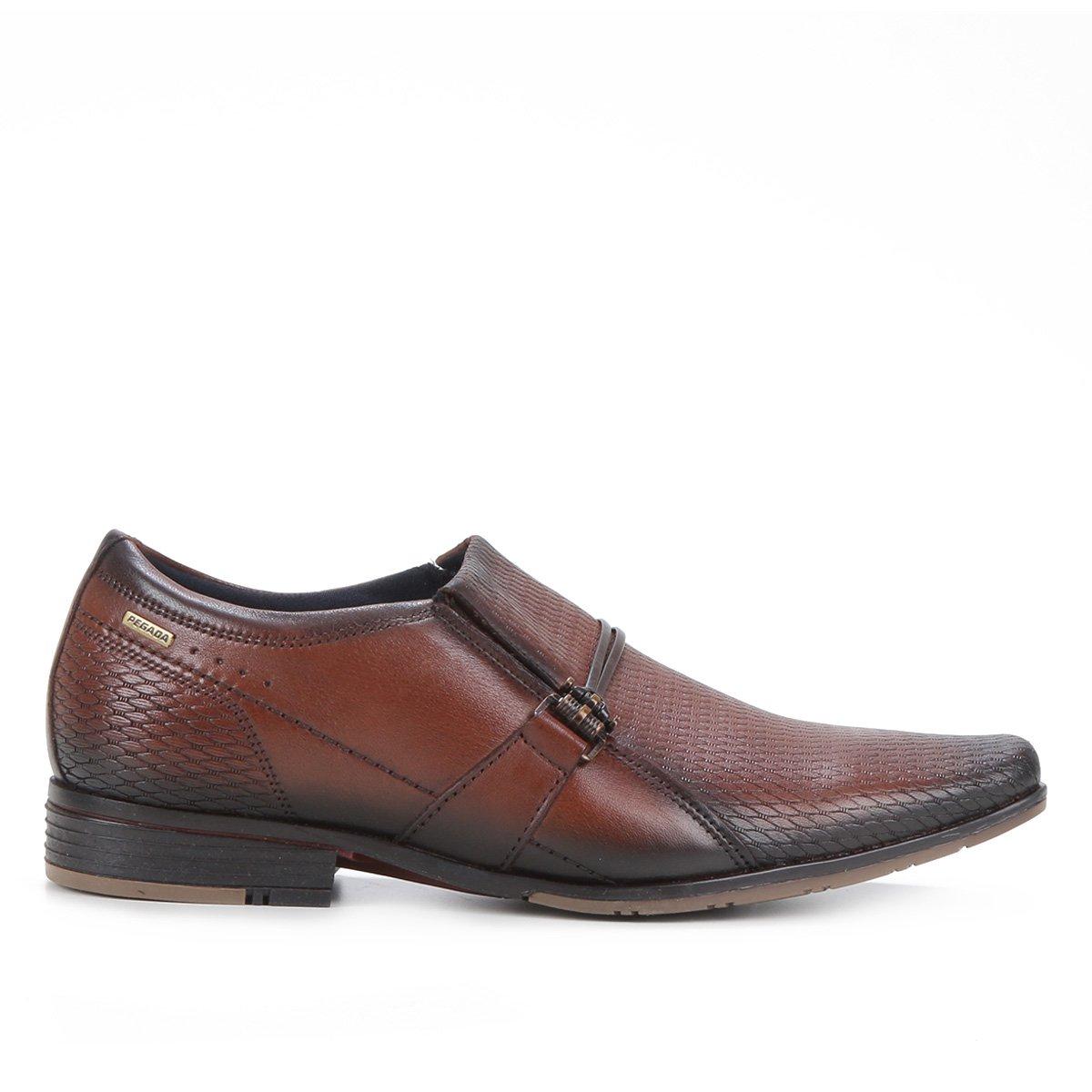 Sapato Social Couro Pegada Bico Fino Masculino