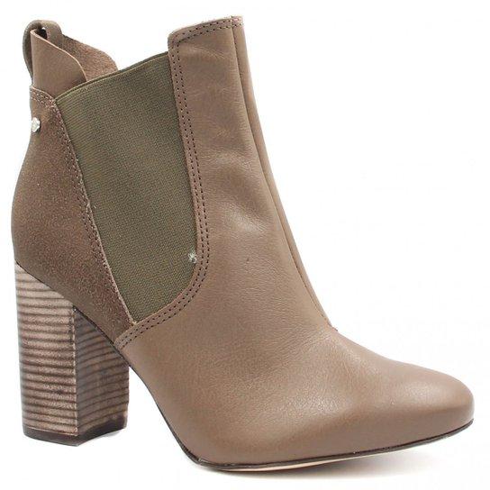 Bota Cano Curto Tanara Ankle Boot Zíper Feminina - Marrom - Compre ... b0ecba6c02