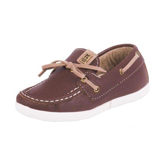 Sapato Infantil Klin Mocassim Baby Flyer Masculino - Marrom - Compre ... dcc5de5ec778a