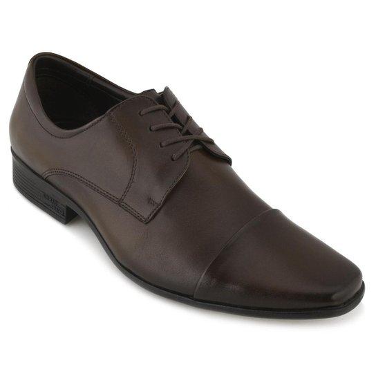 b759ae078 Sapato Social Couro Jota Pe Masculino - Marrom - Compre Agora