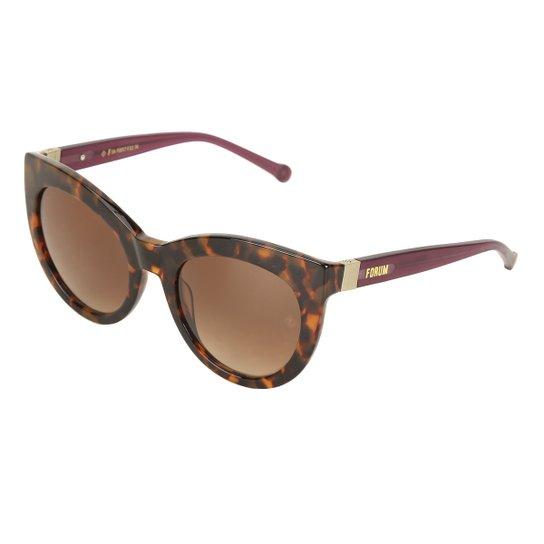 32aa8b23b Óculos de Sol Forum Tartaruga Demi Feminino - Marrom | Zattini