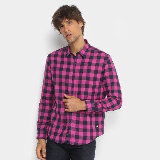 770d0244f Camisa Xadrez Manga Longa Ellus 2nd Floor Tecido Duplo Masculina - Pink
