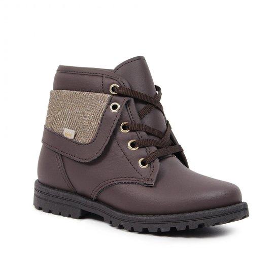 0d3aea1b2e8 Coturno Kidy Infantil Tratorado Fashion - Marrom - Compre Agora ...