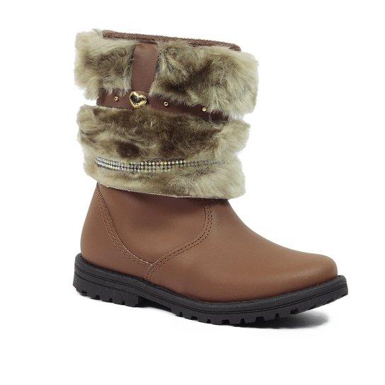 3353336a15d Bota Infantil Kidy Fashion com Pelo - Marrom - Compre Agora