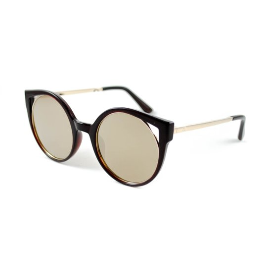 Óculos de Sol Atitude - Marrom - Compre Agora   Zattini 92c1aedda0