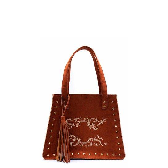 e8721e288 Bolsa Feminina Grande Number Red Tribal Caramelo - Compre Agora ...