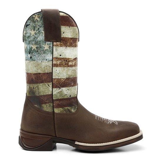 Bota Texana Fossil Cano De Pintura Estados Unidos - Marrom - Compre ... 0625903458
