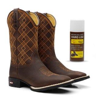 Kit Bota Texana Craz Horse Cafe Borado Laranja 093 955bd5dce67