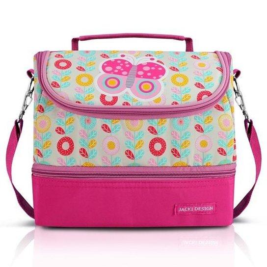 7e60c055a Lancheira Jacki Design Térmica com 2 Compartimentos- Borboleta - Pink