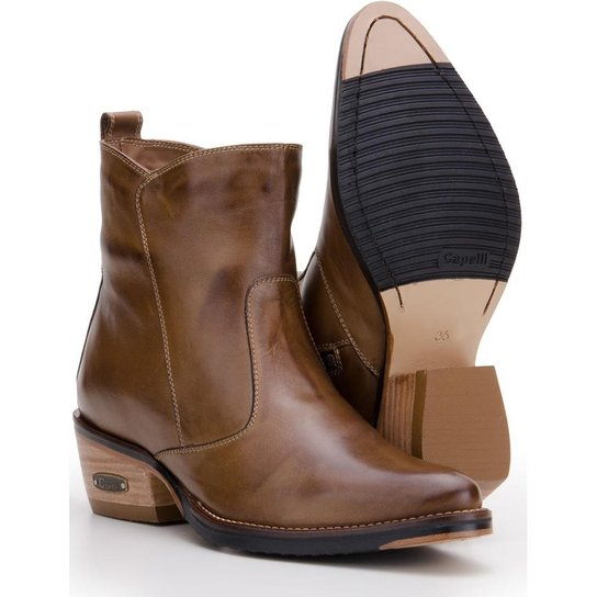 Bota Country em Couro Capelli Boots Feminina - Marrom - Compre Agora ... e2cf3d3a6c5
