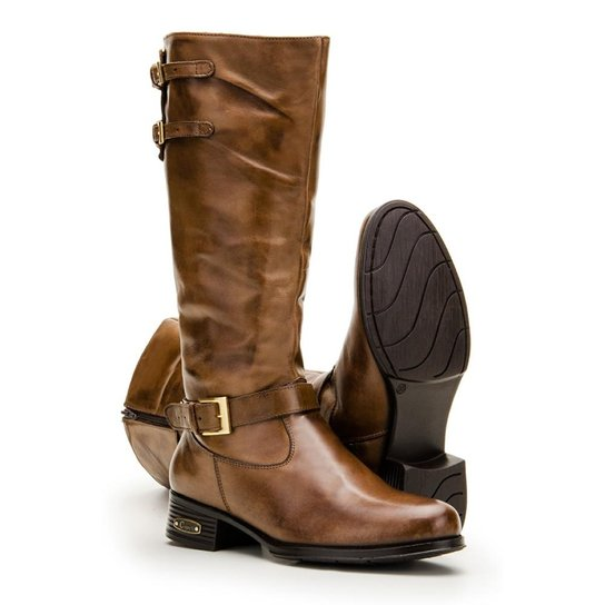 5176464e2d Bota Montaria em Couro Capelli Boots Feminina - Marrom | Zattini