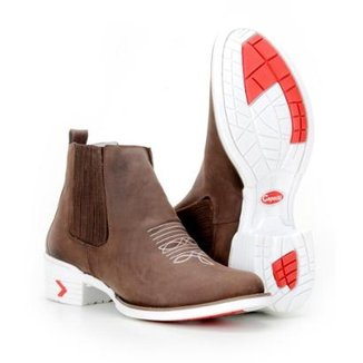 2ddbb76d68b Bota Country Capelli Texana Couro Masculina