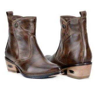 b429aa92ad Bota Country Capelli Boots Couro Cano Curto Feminina