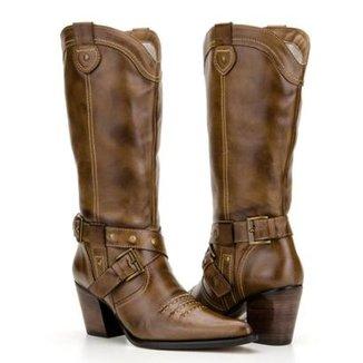 3ad5260c8c Bota Texana Country Capelli Boots em Couro com Fivelas Feminina