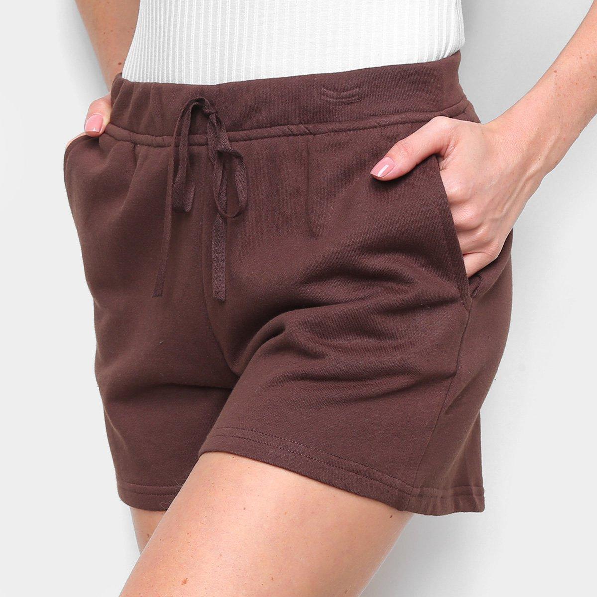 Shorts Top Moda Curto C/ Bolsos Feminino