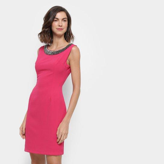 60f7d06ab Vestido Holin Stone Tubinho Curto Bordado - Pink | Zattini