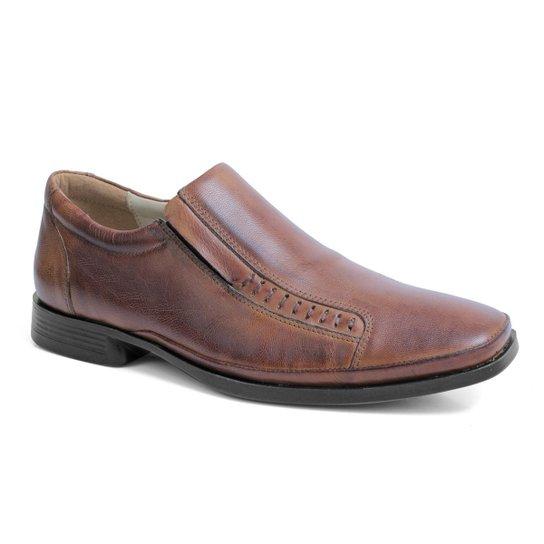 ff5c726d2 Sapato 100% Couro Riber Shoes Elastico Anti-Stress Masculino - Marrom