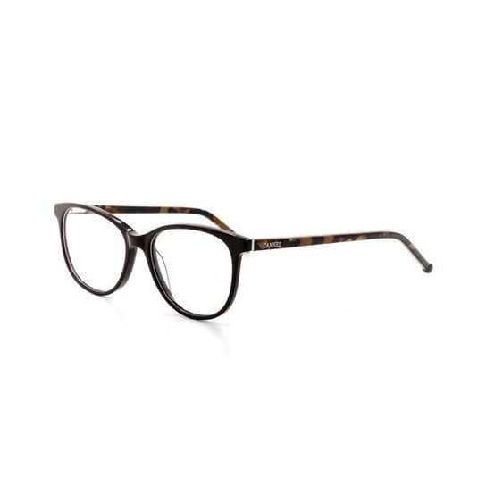 8cfcf0934b73e Armação De Óculos De Grau Cannes 1-03 T 52 C 05 Feminino - Marrom ...