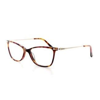 b6cc56c1529b7 Armação De Óculos De Grau Cannes 3063 T 53 C 4 Feminino