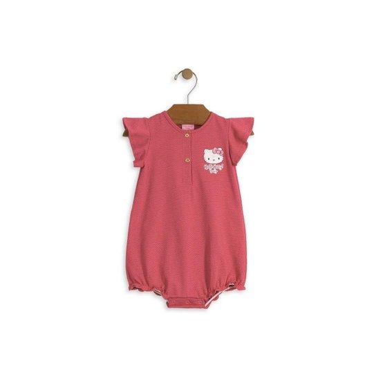 4ecdfb37db Macaquinho Bebê Hello Kitty Com Estampa Feminino - Pink - Compre ...