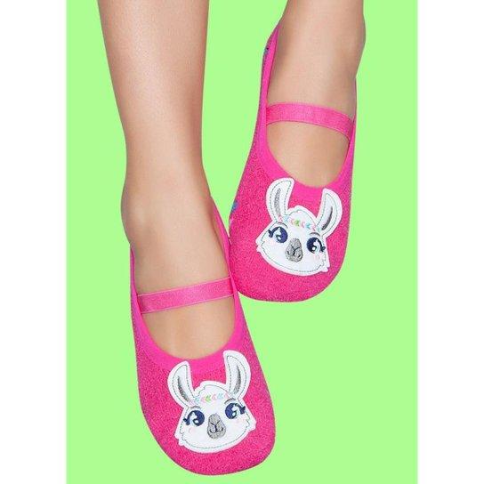 697e24881 Meia Sapatilha Boneca Soft C  Aplique Boho Puket - Pink