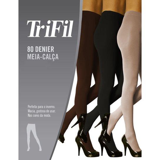 a3adc879e Meia-Calça Feminina Trifil Fio 80 Preto - Compre Agora