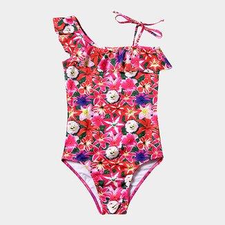 33c4704a28 Maiô Infantil Tip Top Estampa Floral