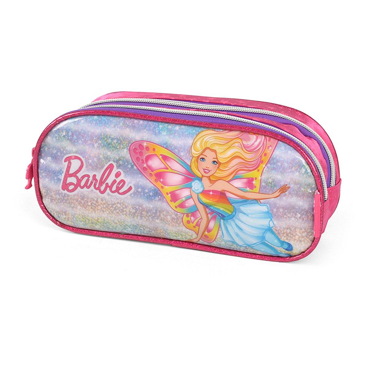 Estojo Duplo Infantil Luxcel Barbie Feminino