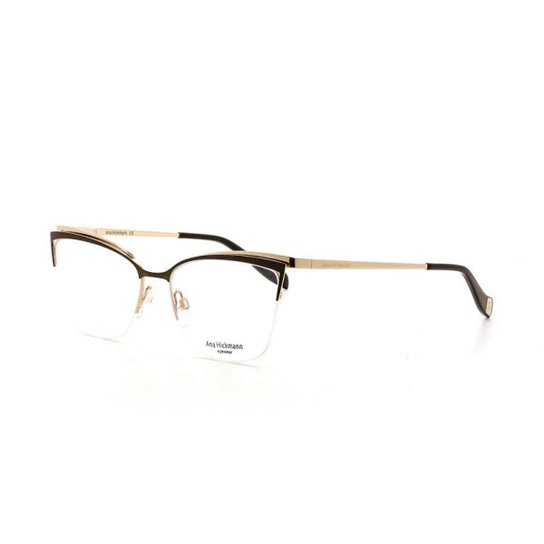 efb5cc96f813a Armação De Óculos De Grau Ana Hickmann 1357 T 54 C 01A Feminino - Marrom
