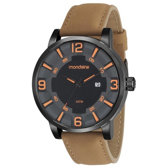 acc000db1 Relógio Masculino Mondaine 99222GPMVPH2 Pulseira Couro - Compre ...