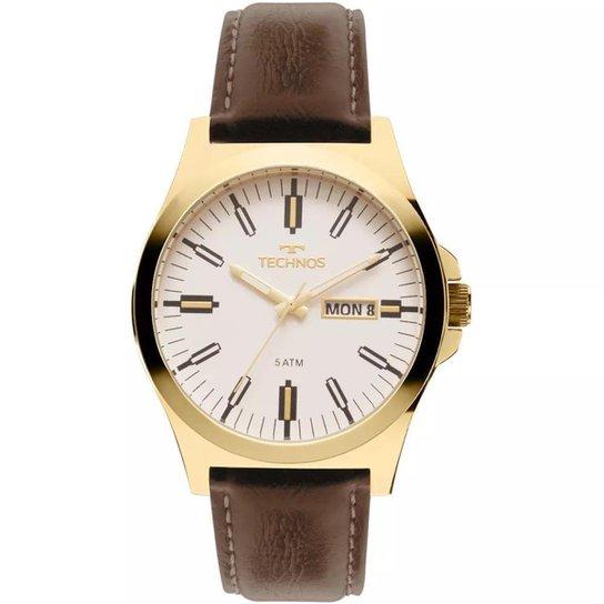 Relógio Masculino Technos 2305AZ 2B 44mm Couro - Compre Agora   Zattini 19cb9fe225