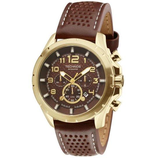 Relógio Technos Skymaster Masculino JS25BG 0M Dourado JS25BG 0M - Marrom 52364f5d38