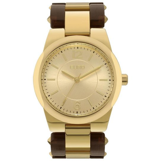 4ef42b50ee Relógio Euro Feminino Acetato Hit Bicolor - EU2035YLX 4D EU2035YLX 4D -  Marrom