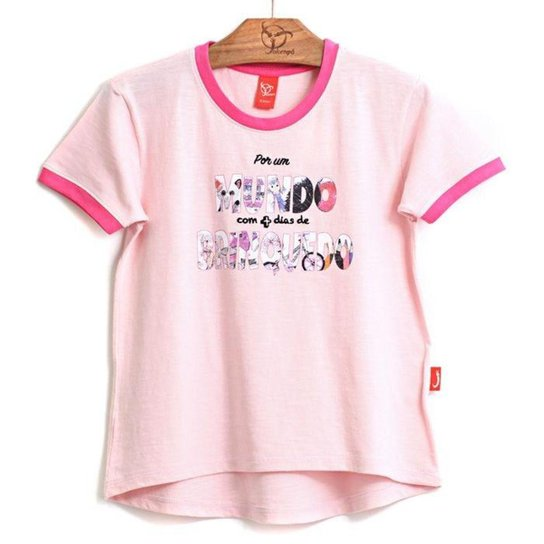 Blusa Jokenpô Infantil Mundo - Pink - Compre Agora  36885387d097f