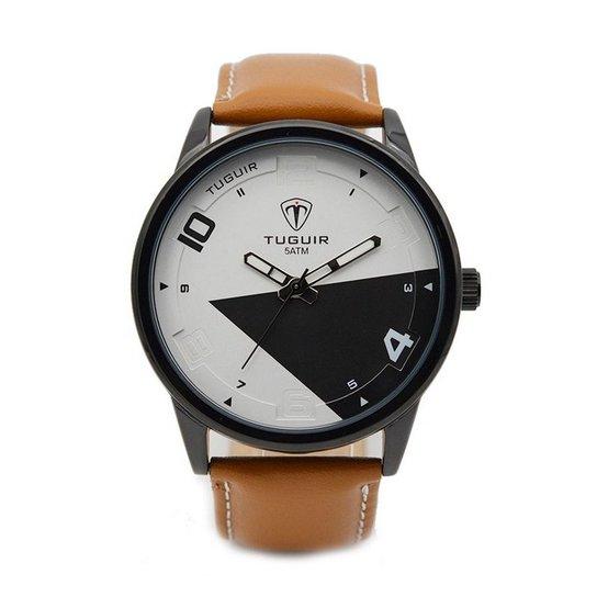 067cb89d0c7 Relógio Tuguir Analógico 5050 - Marrom - Compre Agora