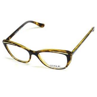 3c20db7794dec Armação De Óculos De Grau Vogue 5218-L T 52 C Feminino Tartaruga